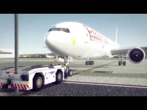 FSX [HD] Ethiopian Airlines 777 Bole Intl Airport departure