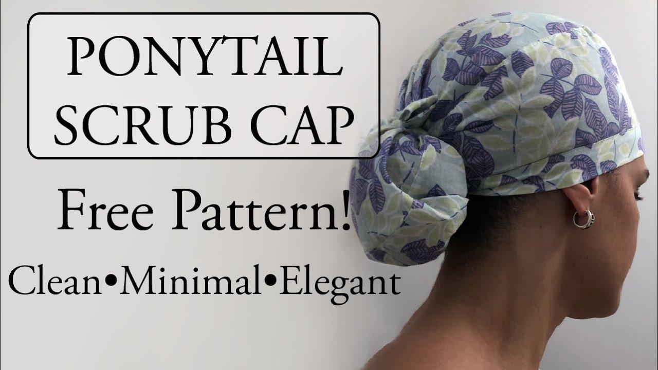 Ponytail scrub hat