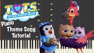 Disney Junior's T.O.T.S ~ Theme Song ~ Piano Tutorial