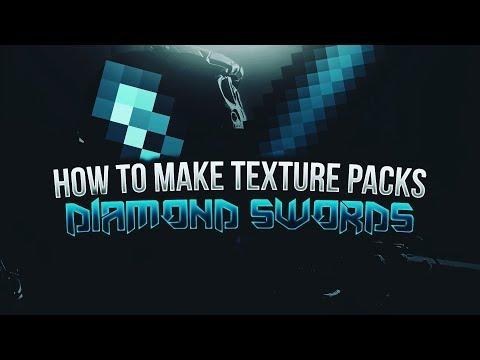 Minecraft Texture Pack Tutorial - Diamond Swords
