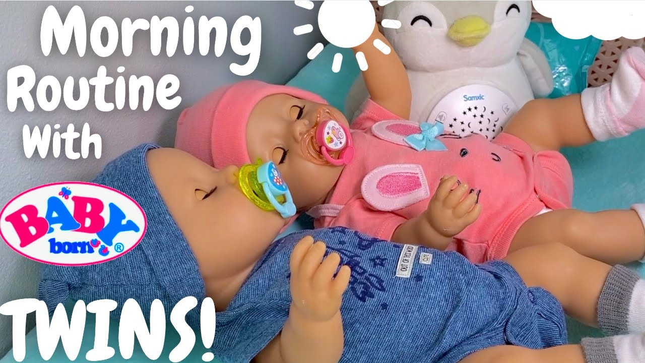 💖💙Baby Born Twins Emma & Ethan! 👶🏼 New Born Babies Morning Routine With Feeding!🍼