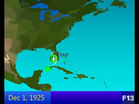 1925 Atlantic Hurricane Season Animation [HD]