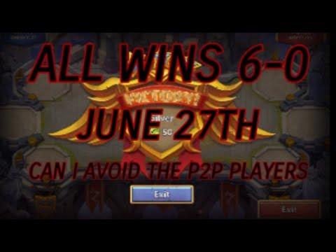 Castle Clash Squad Showdown 6-27 All Wins And Setup