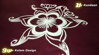 Friday Simple Rangoli Design without Dots | Latest Kolam Design 2018 | Easy Muggulu Rangoli Designs
