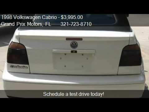 1998 Volkswagen Cabrio GLS - for sale in West Melbourne, FL