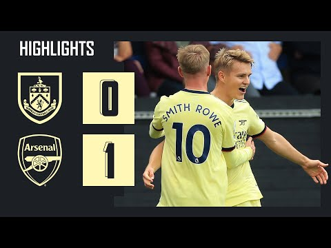 HIGHLIGHTS |  Burnley vs Arsenal (0-1) |  Premier League |  Odegaard with a nice free kick!