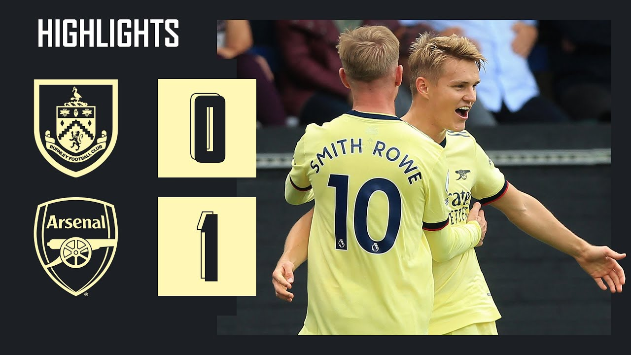 Download HIGHLIGHTS   Burnley vs Arsenal (0-1)   Premier League   Odegaard with a beautiful free-kick!