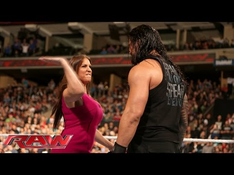 Thumbnail: Stephanie McMahon is furious with Roman Reigns: Raw, December 14, 2015