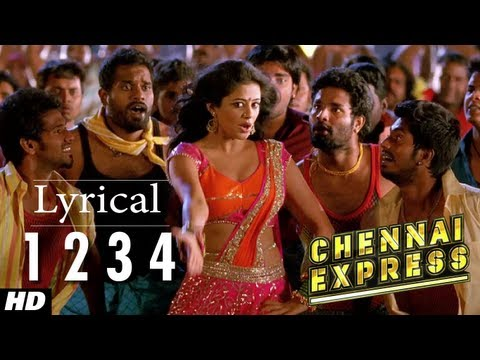 Chennai Express Song With Lyrics One Two Three Four 1234  Shahrukh Khan, Deepika Padukone