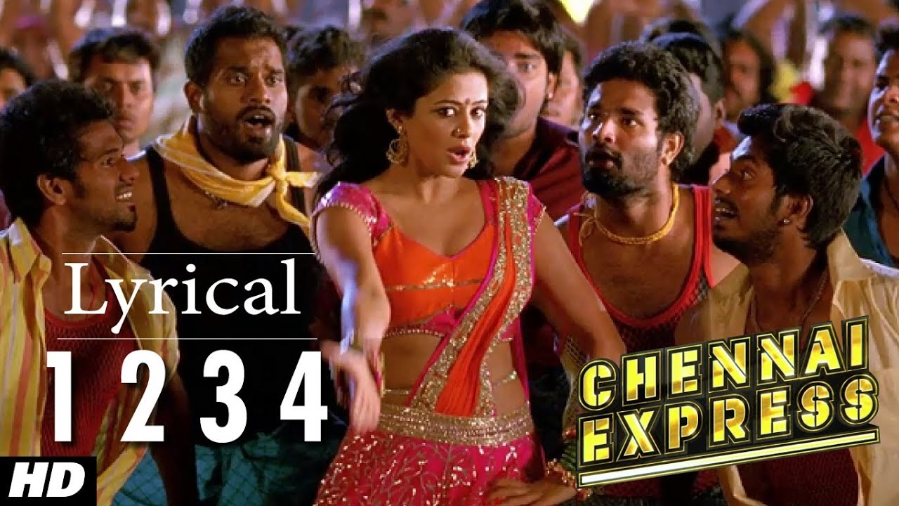 chennai express song with lyrics one two three four 1234