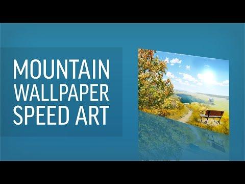 Mountain View Speed Art