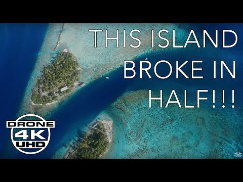 STUNNING ATOLL PASSES IN POLYNESIA by DRONE - 4K UHD - Relaxation + Ambient