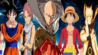 vuclip Saitama vs Goku,Naruto,Luffy and Natsu
