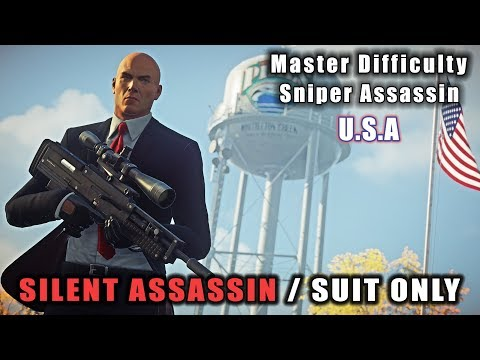 HITMAN 2 Master Difficulty Whittleton Creek - Sniper Assassin | Silent Assassin Suit Only |