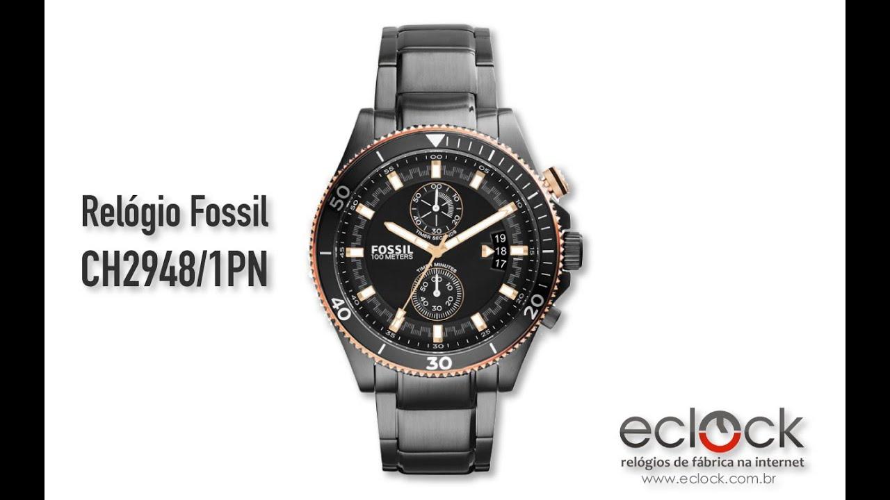396390575 Relógio Fossil Masculino CH2948 1PN - Eclock - YouTube