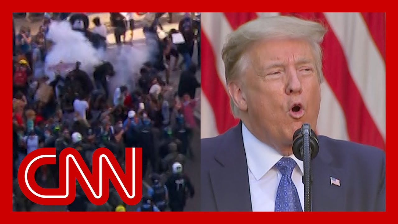 Trump threatens to use military to end riots and lawlessness
