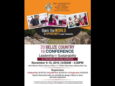 UWI Open Campus Belize Country Conference - 2016