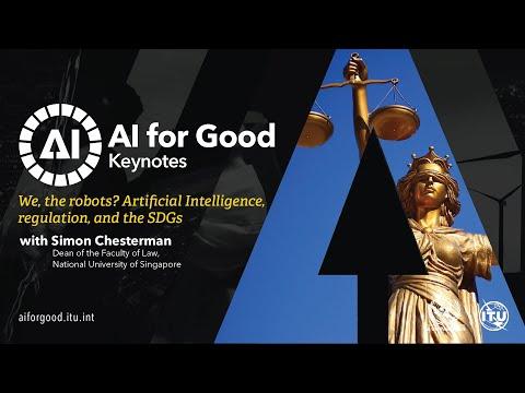 We, the robots? AI, regulation, and the SDGs | Simon Chesterman, NUS | AI FOR GOOD KEYNOTES