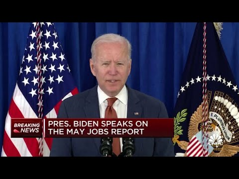President Joe Biden: No other economy is gaining jobs as fast as the U.S.