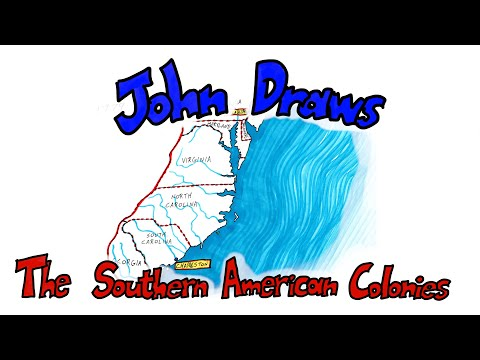 Map of the Southern Colonies - Preview of American Revolution