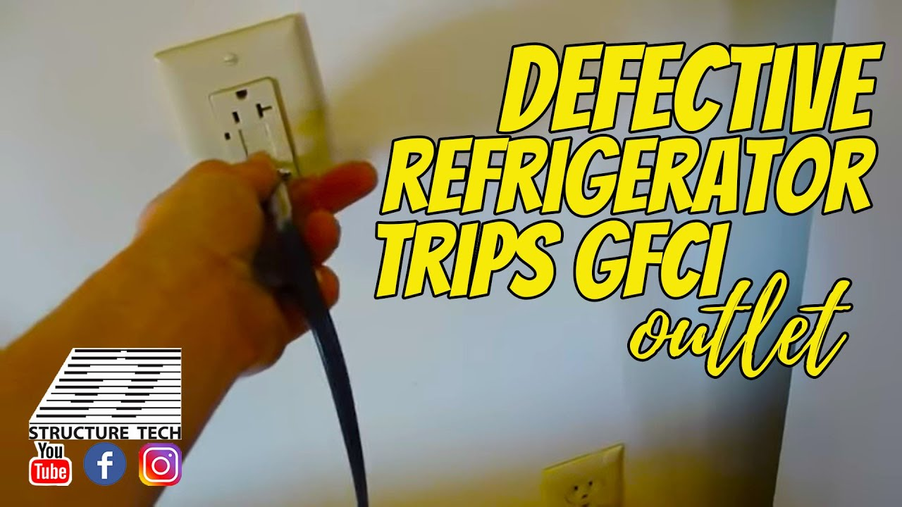 Defective Refrigerator Trips Gfci Outlet Youtube Wiring