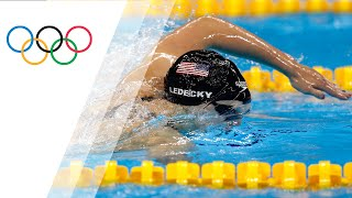 Ledecky sets 400m Freestyle world record with comfortable win