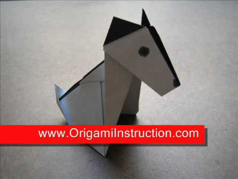 how to make a puppy out of origami