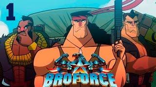 Прохождение Broforce (coop) #1 - Три Бро в деле!