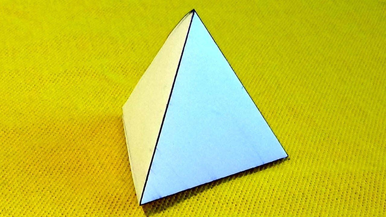 Como Hacer Una Pirámide De Papel Fácil Youtube