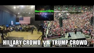 Hillary crowds vs Trumps MASSIVE crowds...