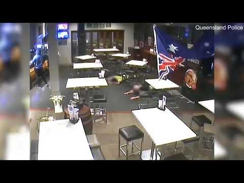 Police release CCTV footage of armed robbery in East Brisbane hotel