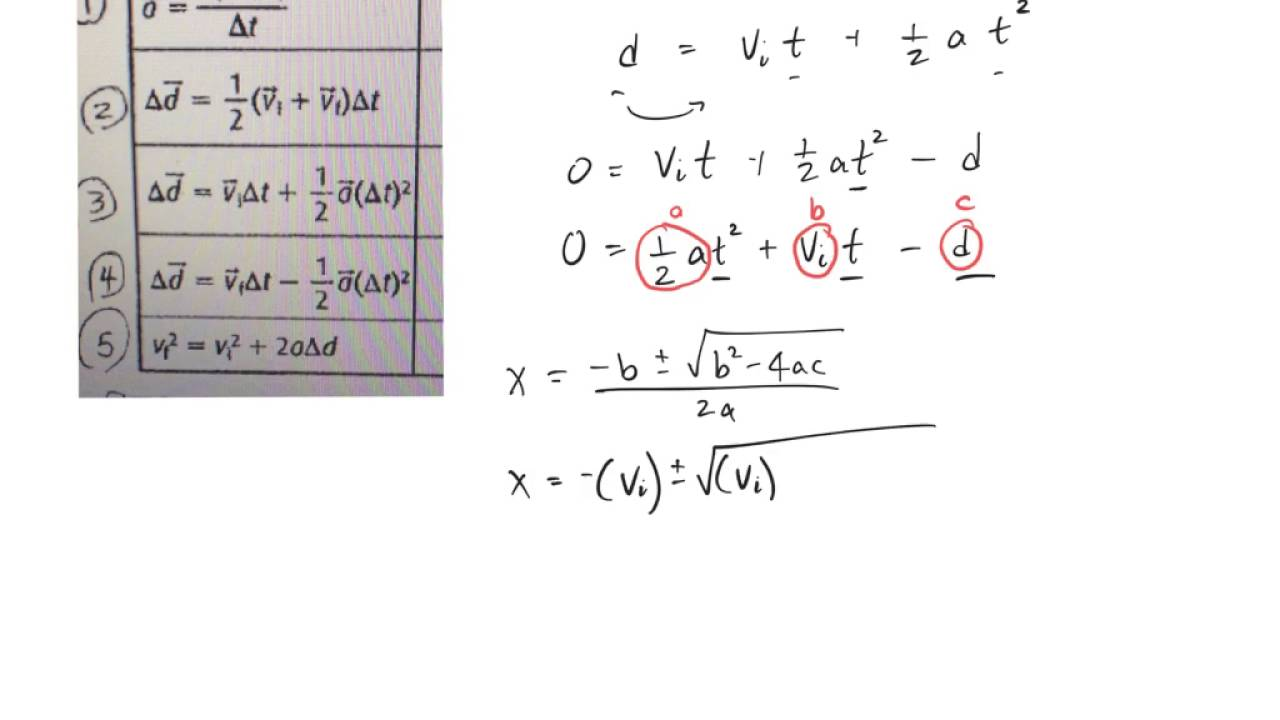how to calculate change in displacement