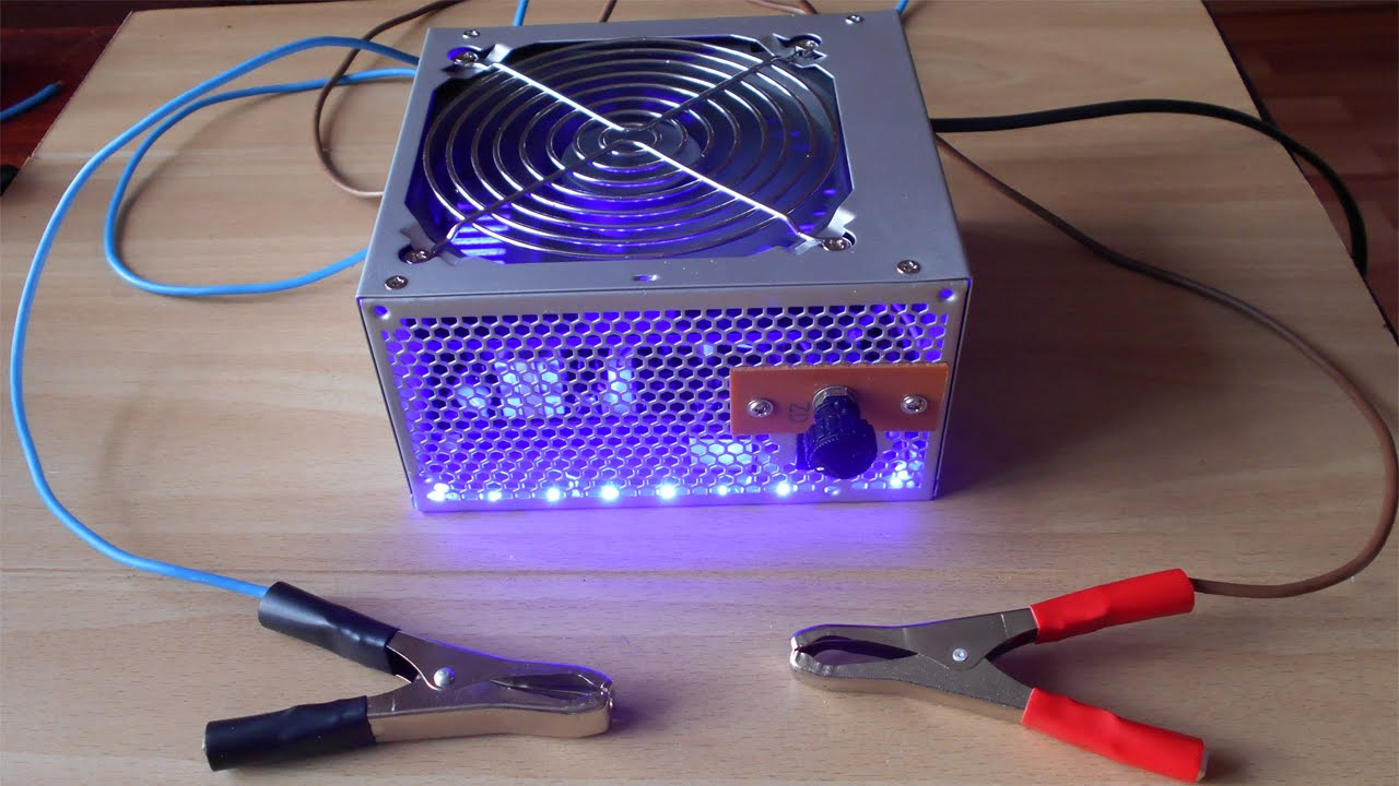 зарядка аккумулятора блоком питания компьютера