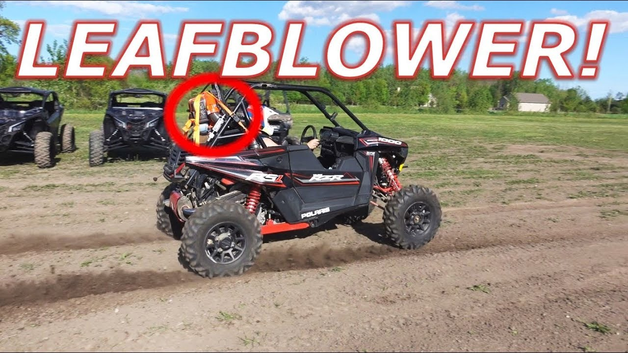 Can you supercharge a Polaris RZR RS1 with a leafblower?
