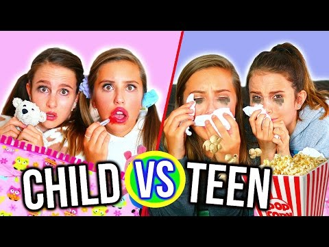 CHILD VS TEEN SLEEPOVER! Lovevie & Olivia Grace