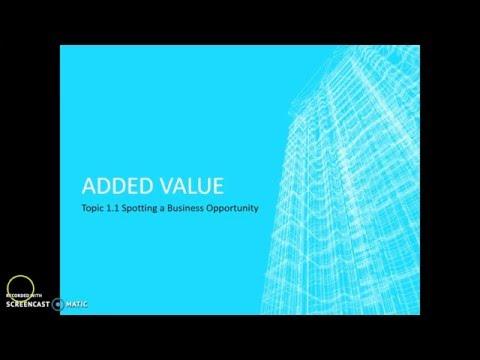 Edexcel GCSE Business - Added Value