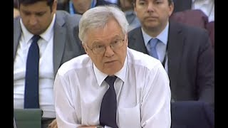 David Davis speaks at the Brexit Committee, 6 December 2017