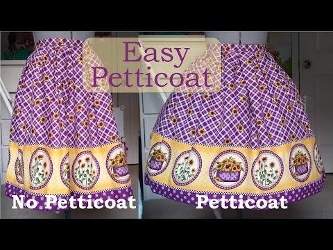 Diy: Quick and Simple Petticoat