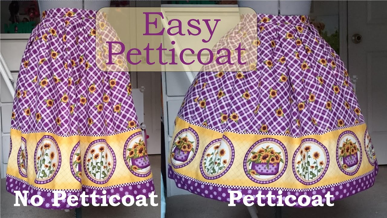 Diy: Quick and Simple Petticoat - YouTube