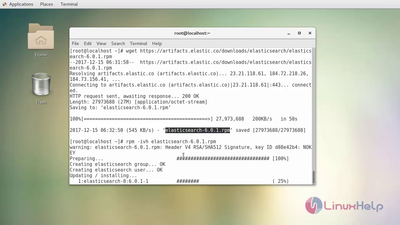 How to install Elasticsearch on Centos 7 4