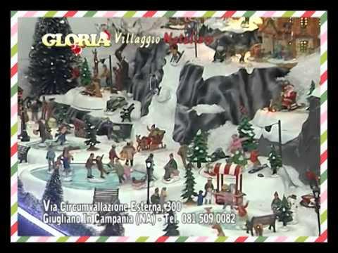 Addobbi Natalizi Gloria Giugliano.Il Villaggio Di Natale Gloria Youtube