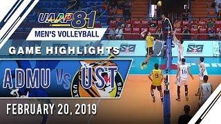 UAAP 81 MV: ADMU vs. UST | Game Highlights | February 20, 2019