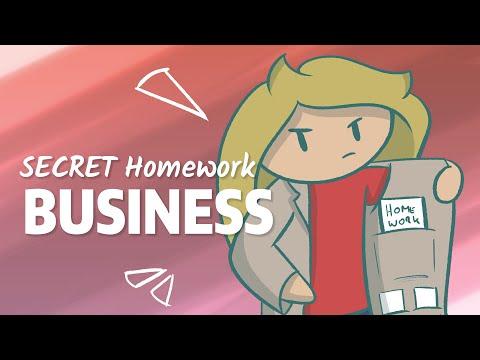MONEY for Homework - my SECRET Underground Business!