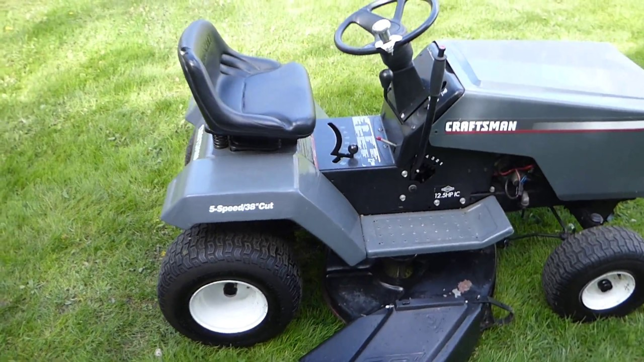 Old Craftsman Lawn Mowers : Craftsman riding lawn tractor year old inch cut youtube