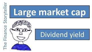 Dividend yield of large market cap companies