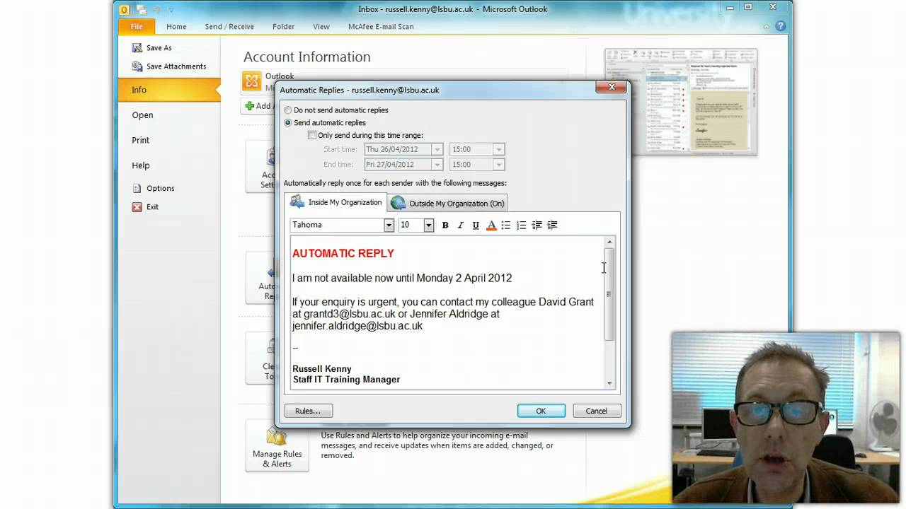 outlook how to turn off out of office