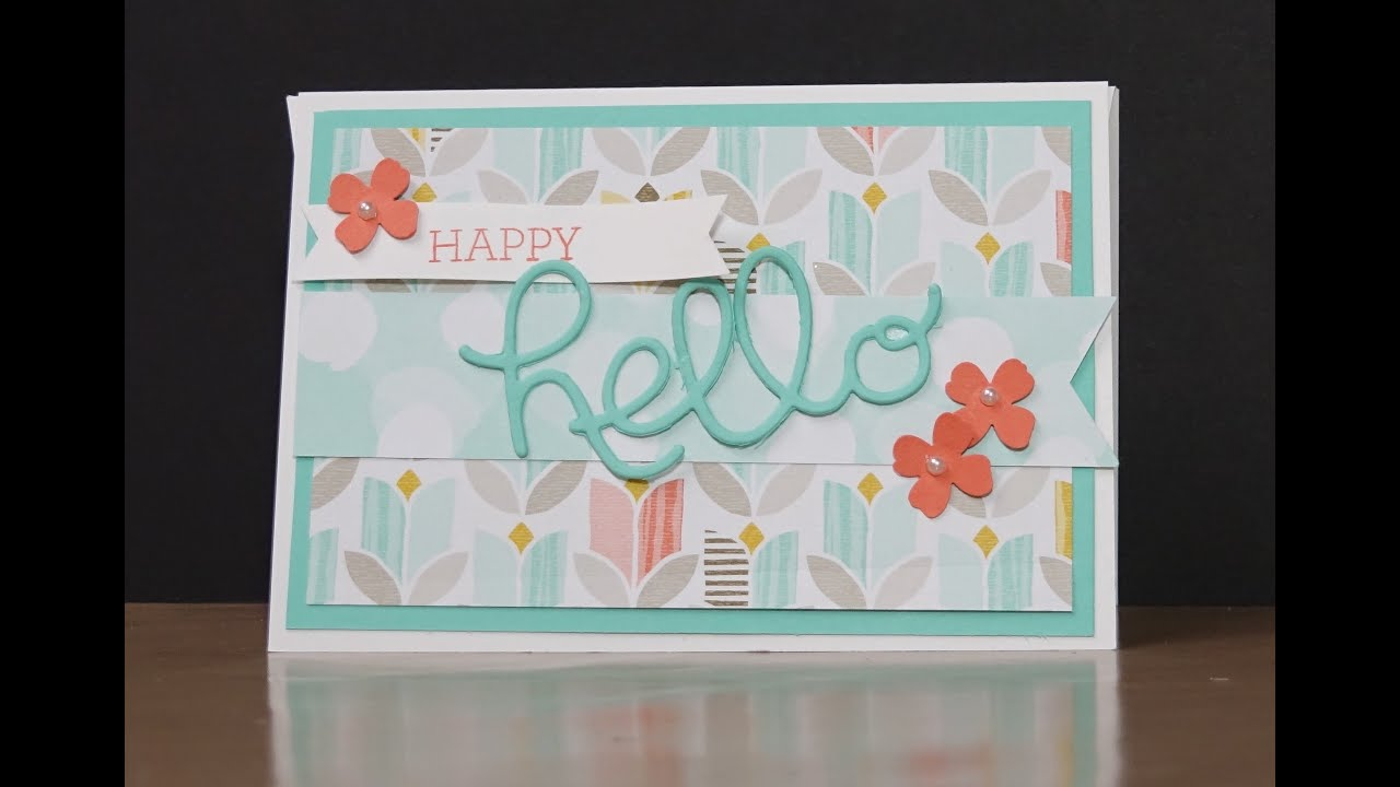 stampin up crazy about you hello you thank you greeting cards