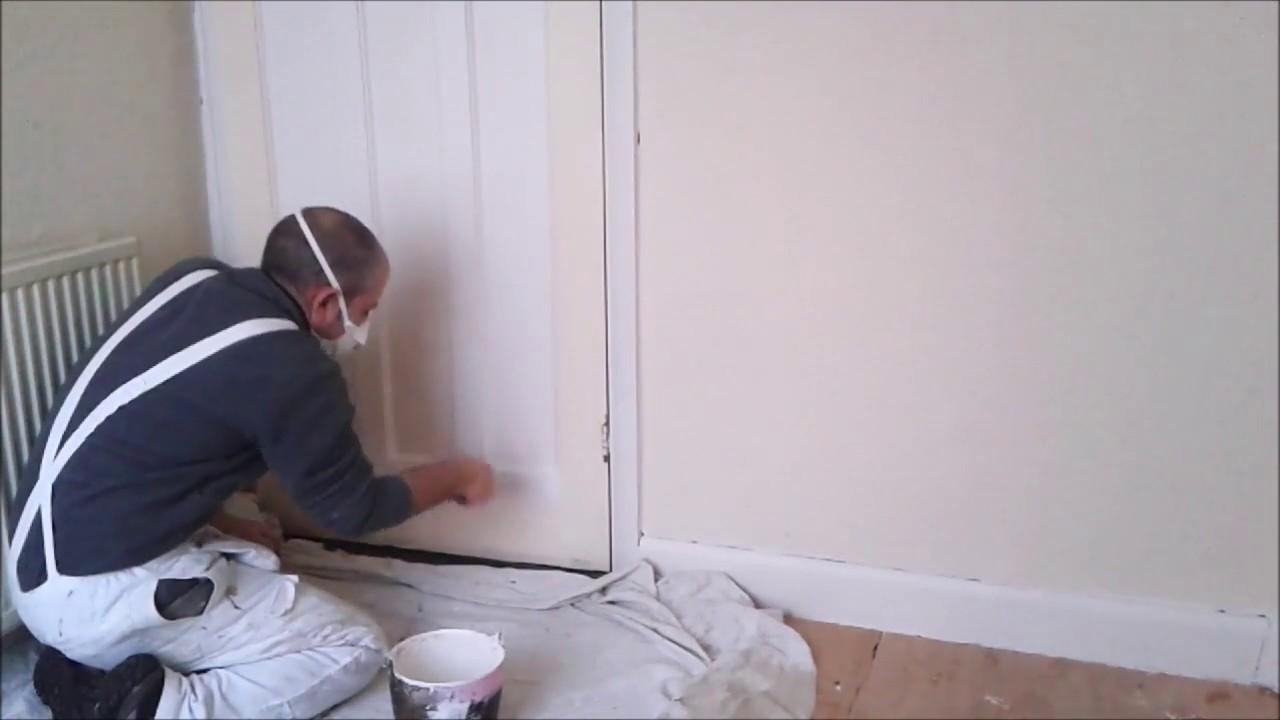 Zinsser B I N  Primer Applied To Panel Door Stain Block