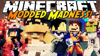 Minecraft Modded Madness : ATTACK ON TITAN VS DRAGON BALL Z