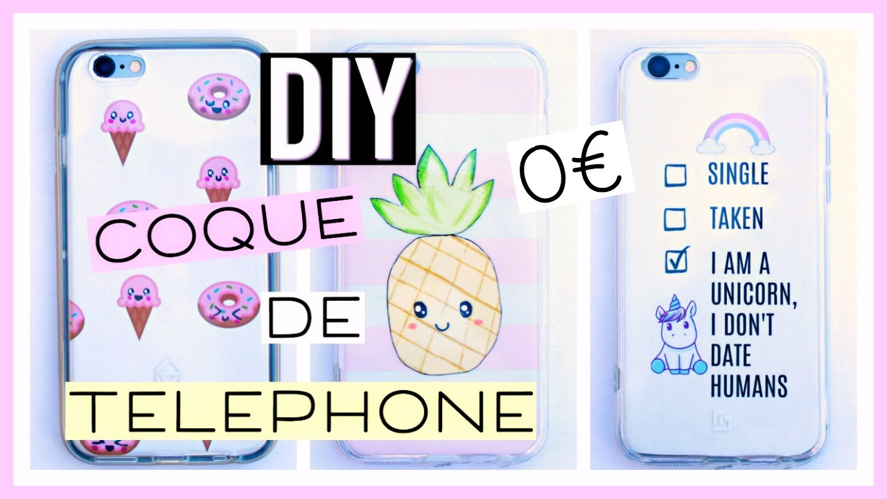 diy coque de t l phone facile 0 kawaii fran ais youtube. Black Bedroom Furniture Sets. Home Design Ideas